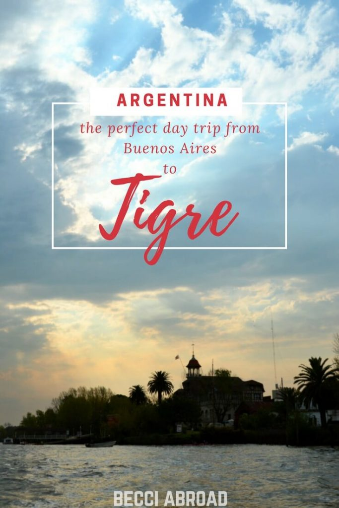 Tigre is perfect for a relaxing day trip from Buenos Aires