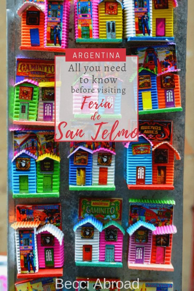 The colourful Sunday market, Feria de San Telmo, is a must in Buenos Aires, and a great place to search for souvenirs. Take a look here, and get inspired!